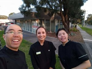 Dr Tina So, Dr Tim Wenas and taylah at Elation Dental